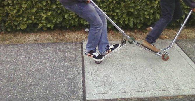 tandem scooter