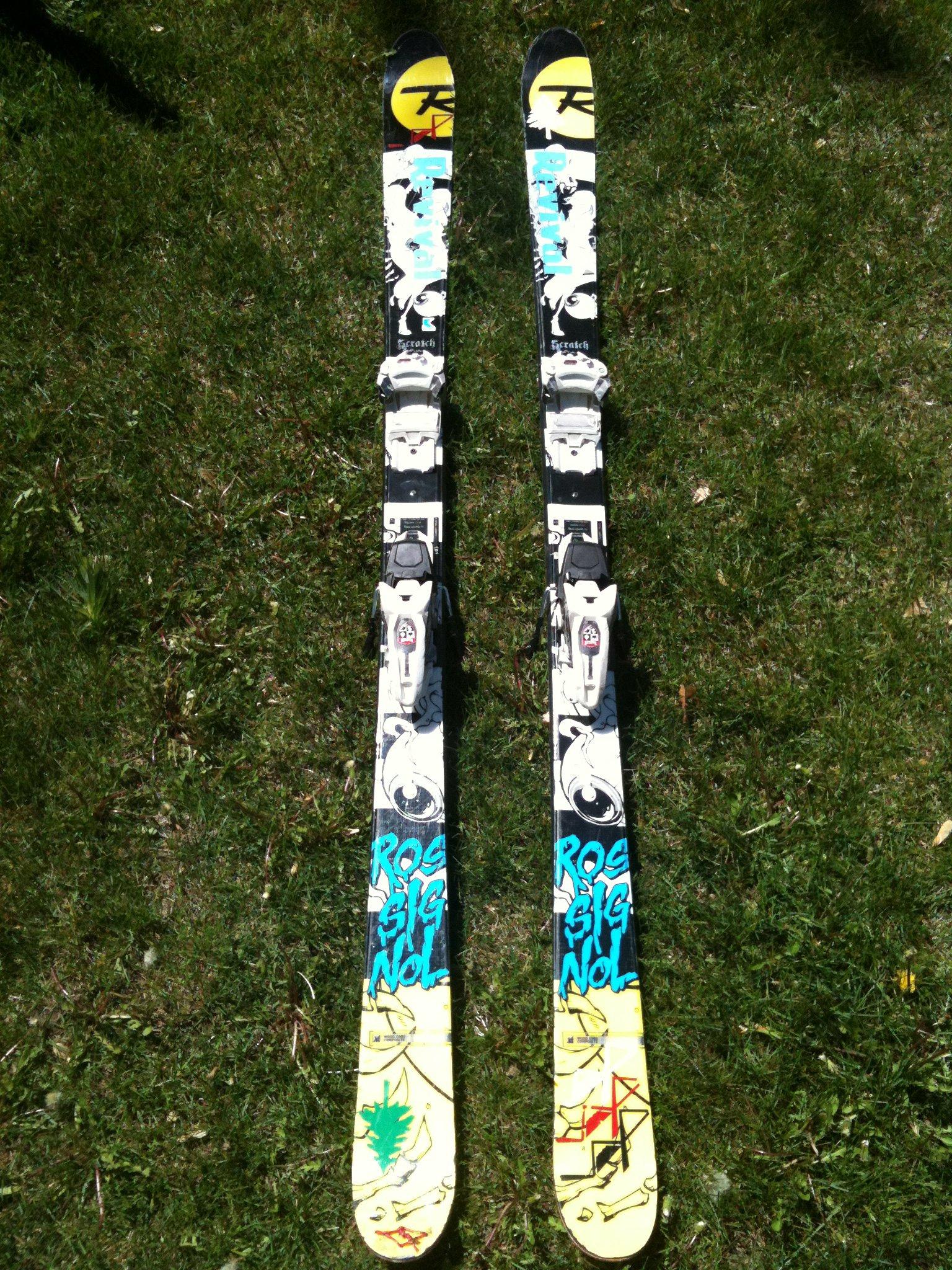 181 Rossignol Scratch w/ Marker Griffon bindings