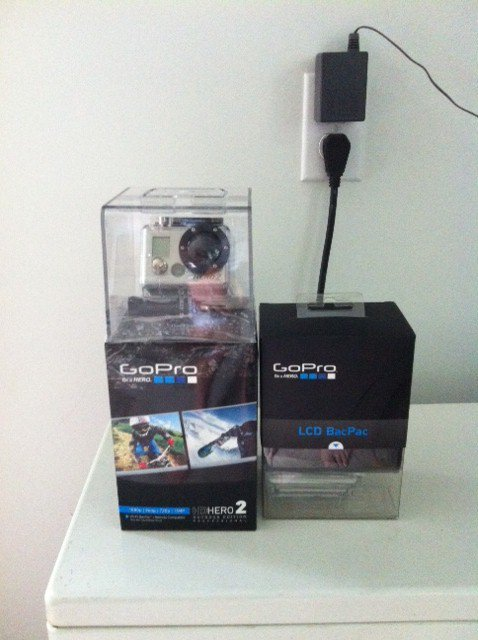 gopro hd2 and lcd screen for sale!