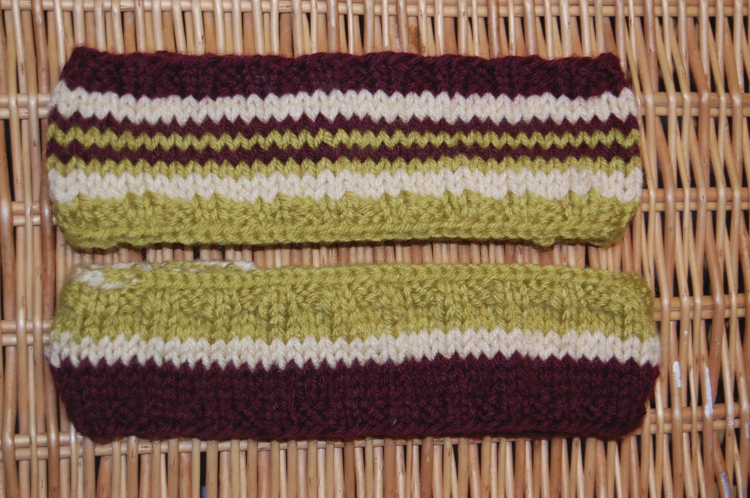green and burgundy variety