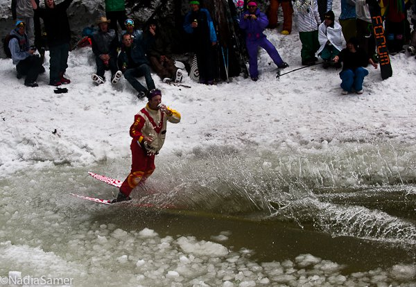 Switching it up, pond skim.