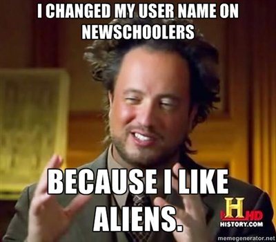 Why did I change my user name?