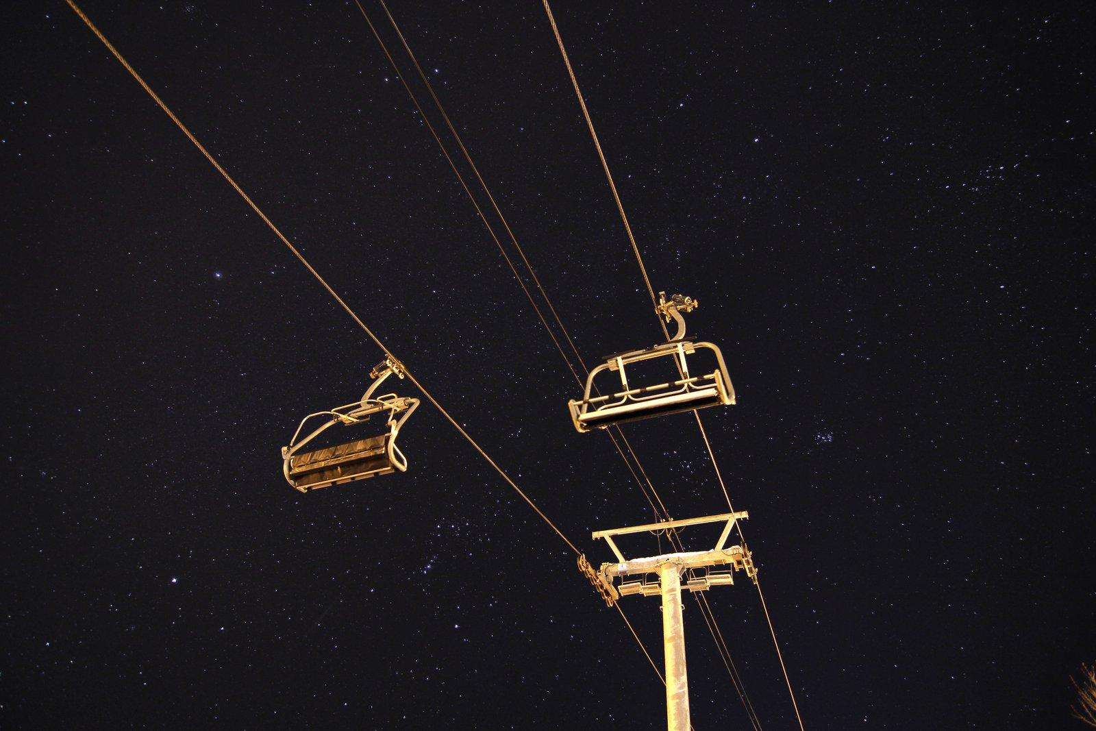Kimberly Chairlift under stars