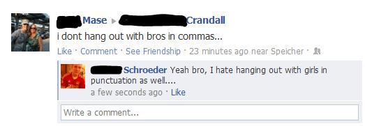 facebook spelling fails