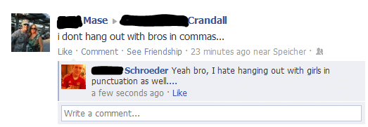 facebook spelling fails