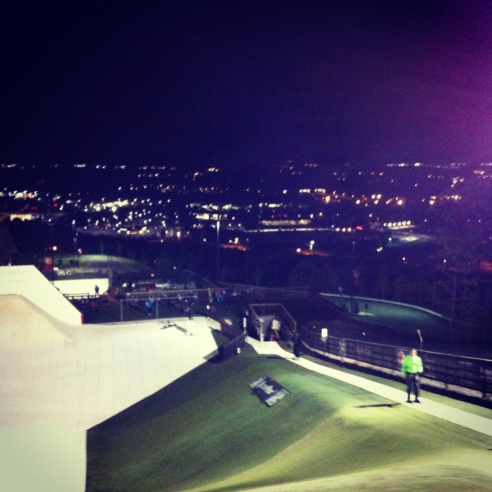 snowflex at night