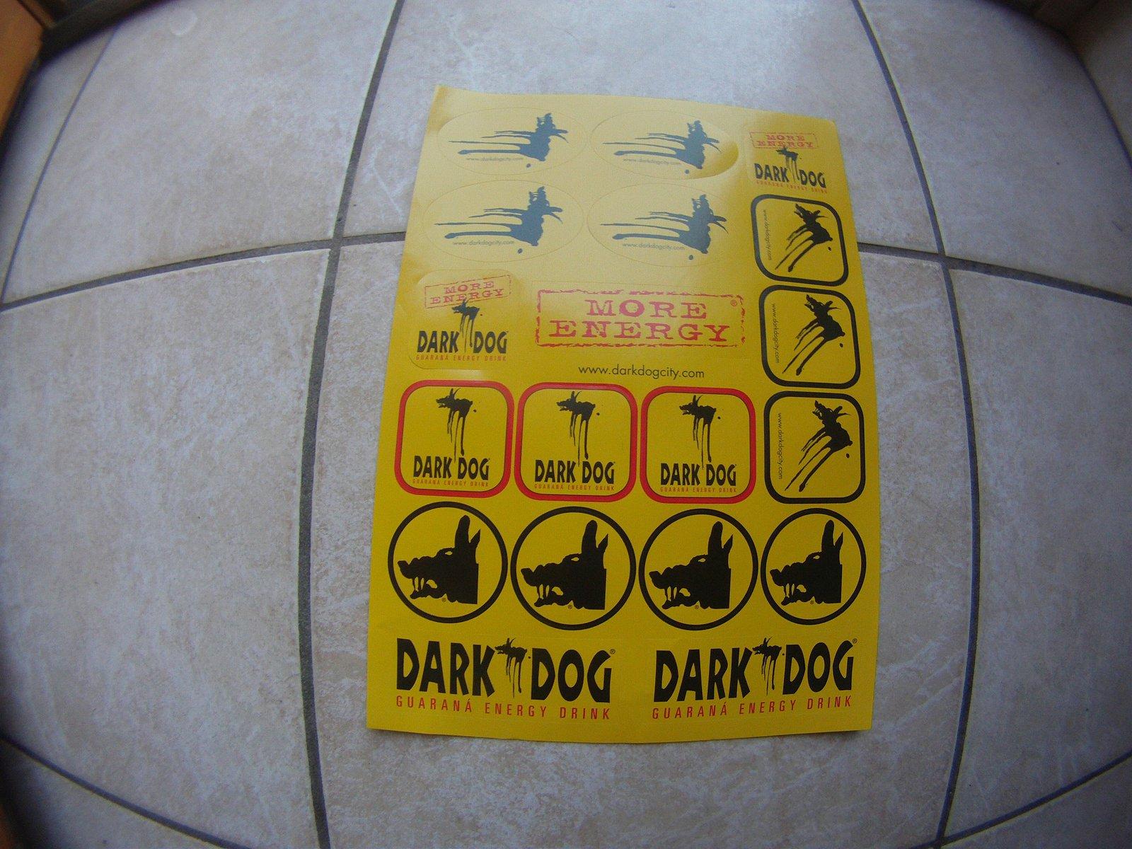 dark dog stickers