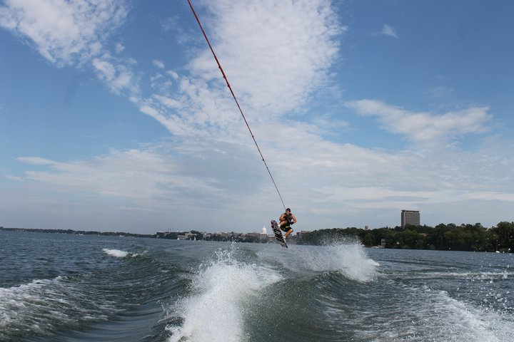 Wakeboading in Wisco