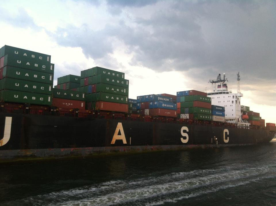 Container ship in NYC