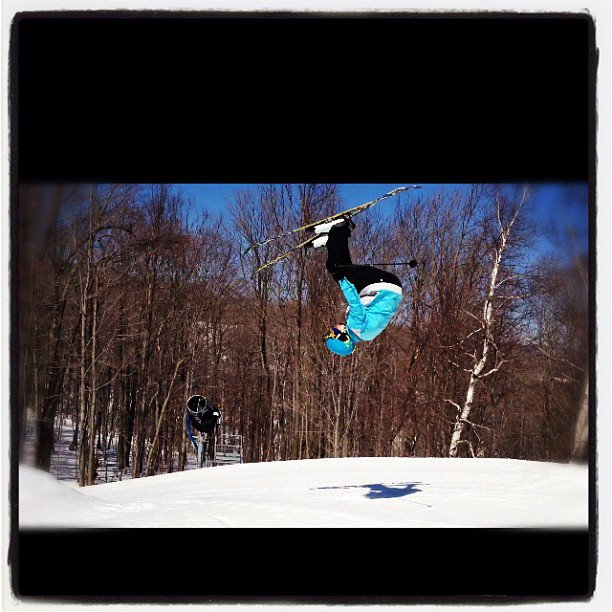 Flippin at mount snow