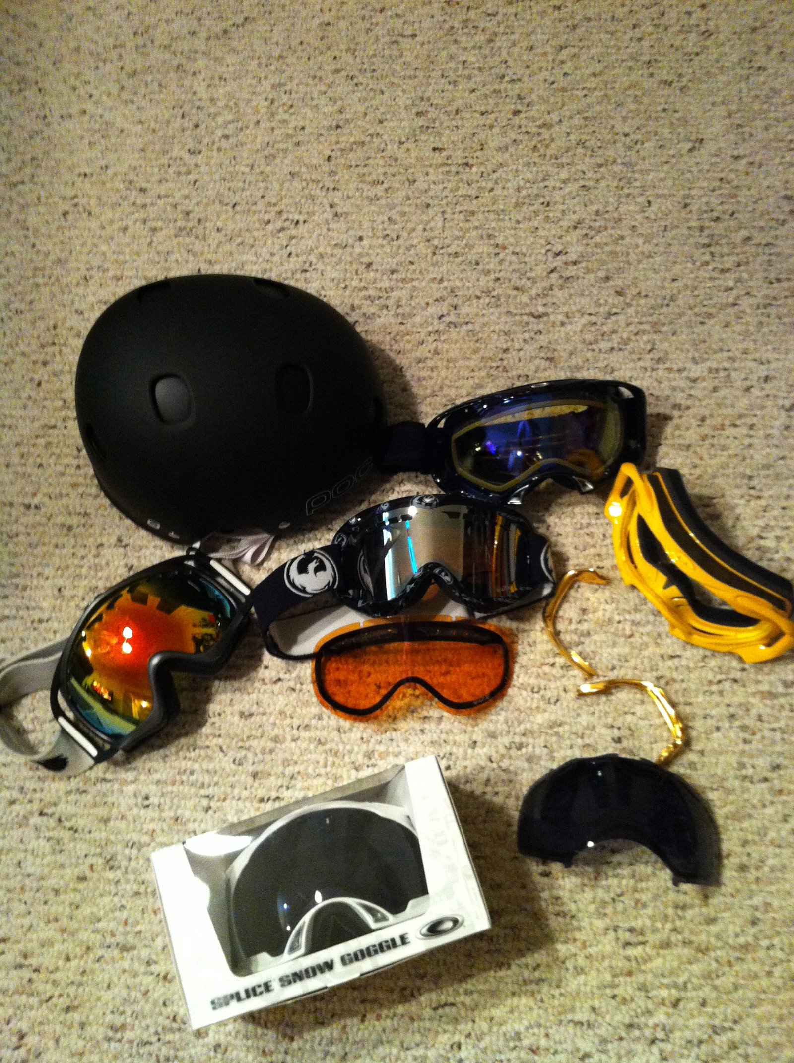 goggles and helmet