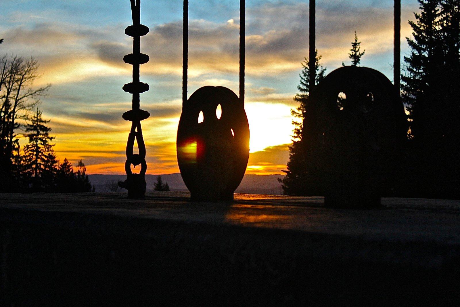 Chair Lift Sunset