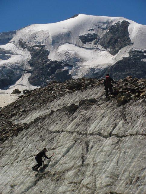 teaching how to climb steep ice