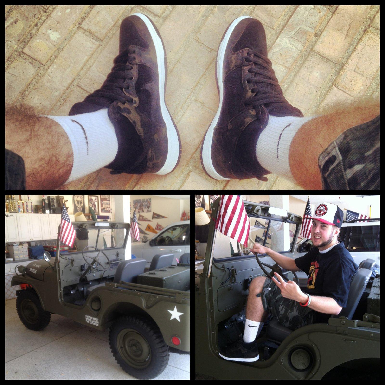 '47 Army Jeep SB Dunk Camo