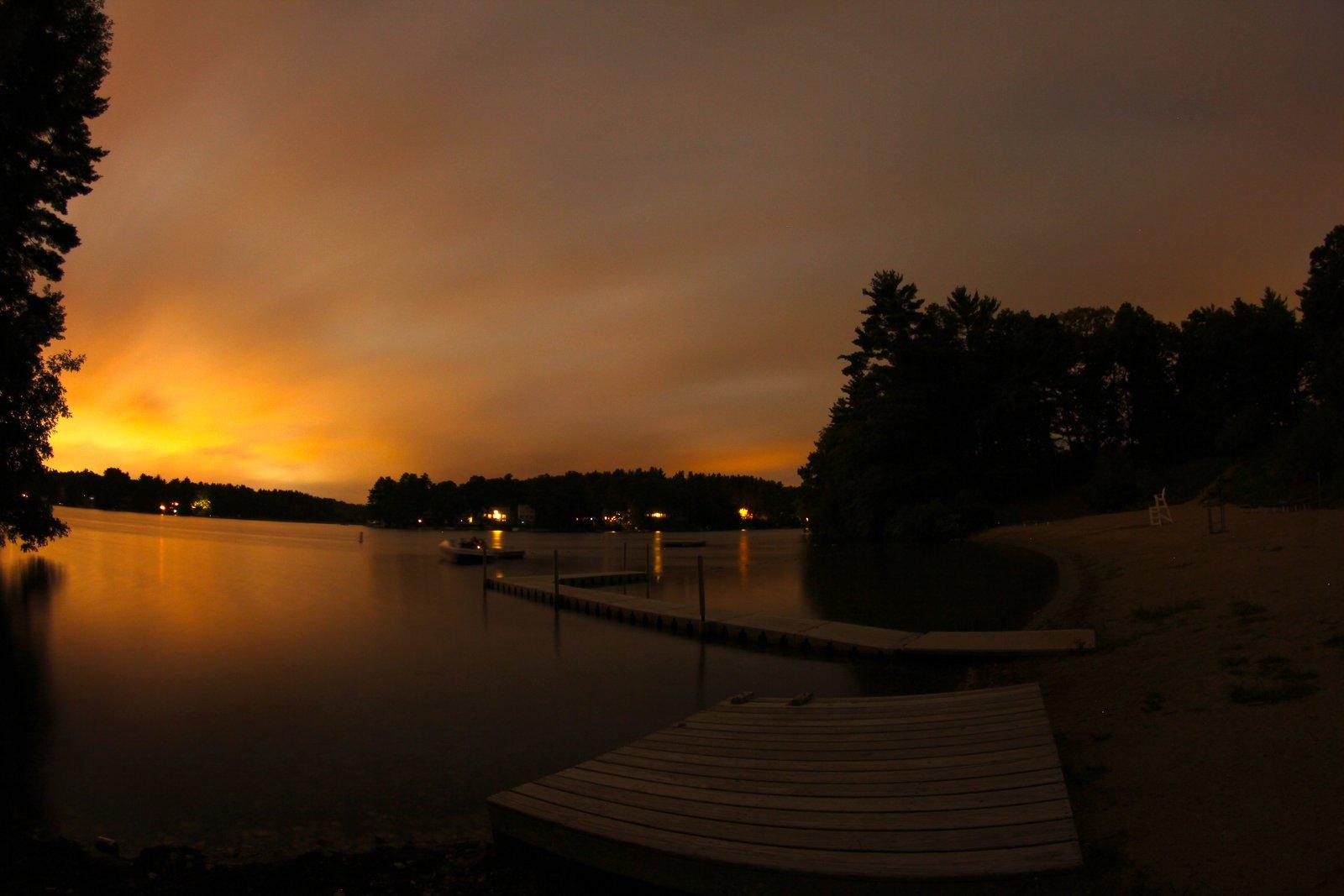 Lake boon sun set