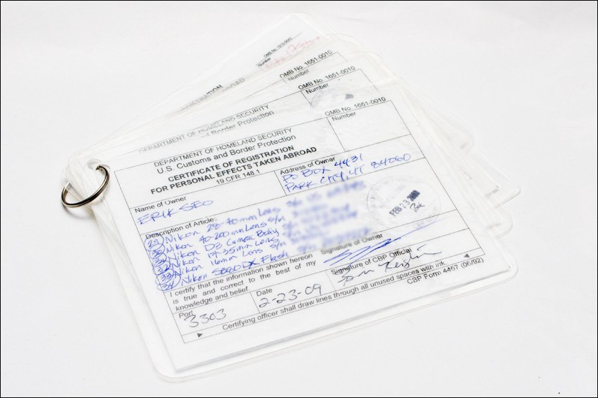 Us customs proof of ownership form for travelling internationally i8217ve run across the problem a few times coming back home from canada with us customs withproof of ownership almost every time i go to canada thecheapjerseys Image collections