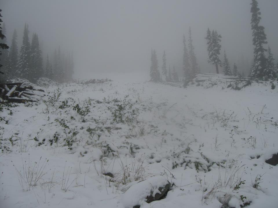 More Snow on Top of PK Today