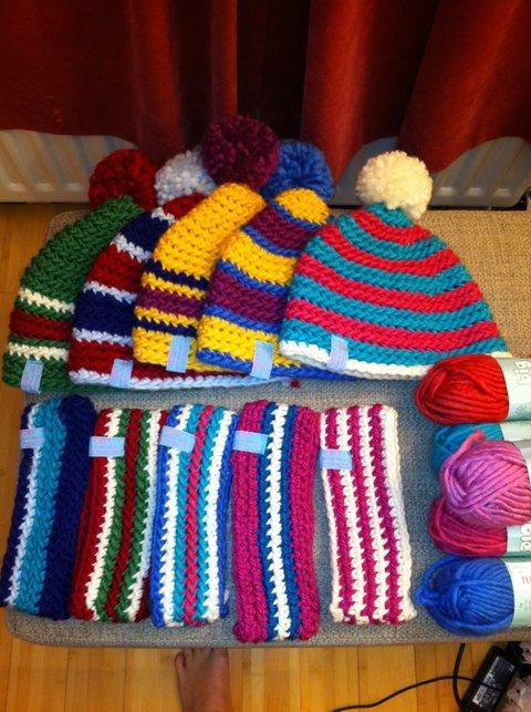 selection of headwear