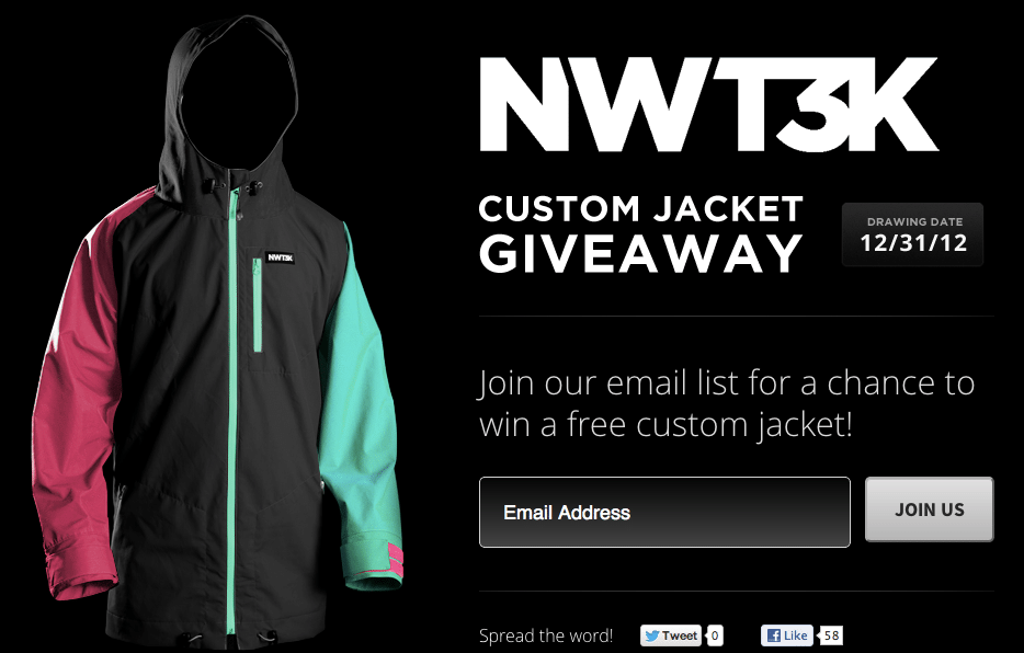 Enter to Win the chance to design your own custom jacket