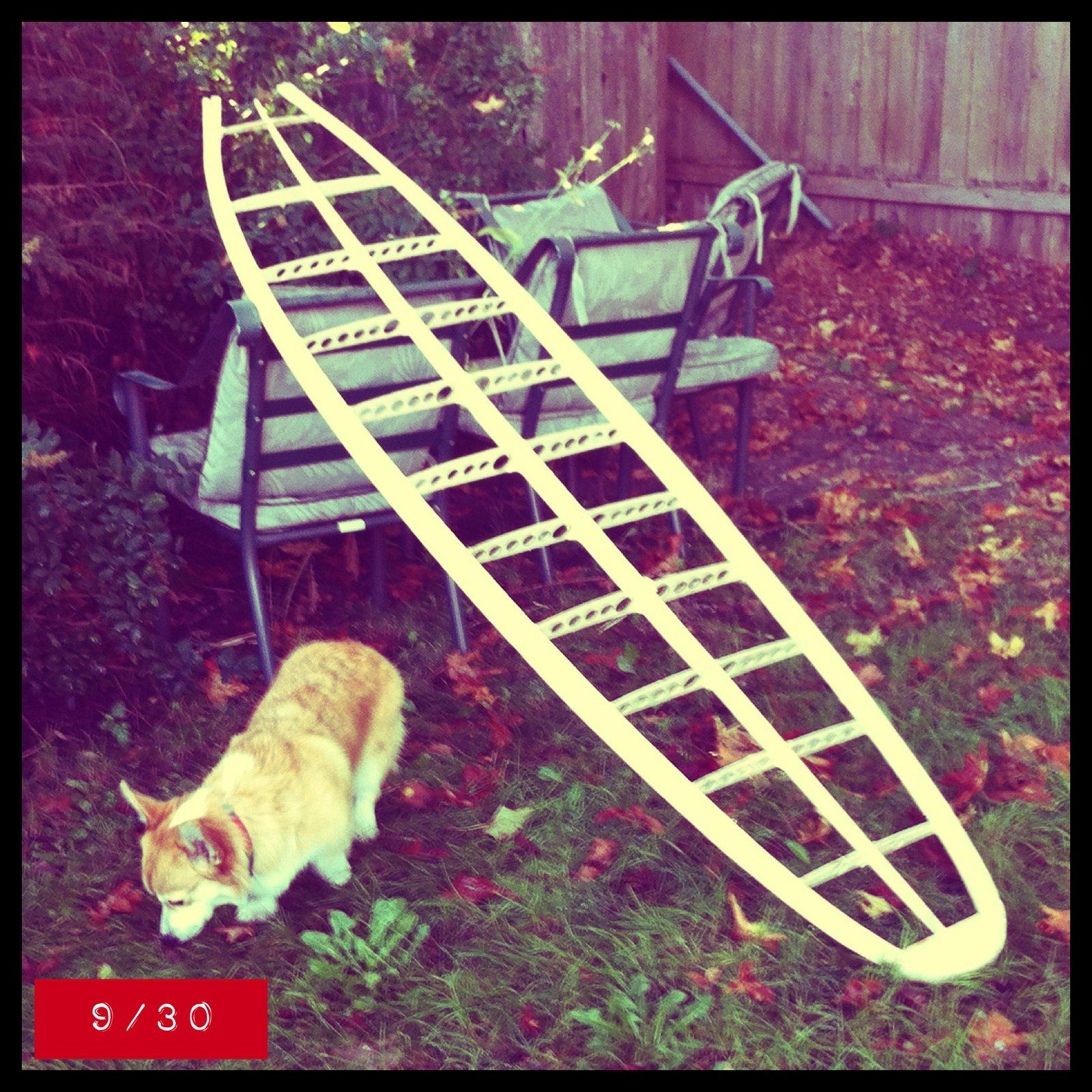 hollow wooden surfboard frame