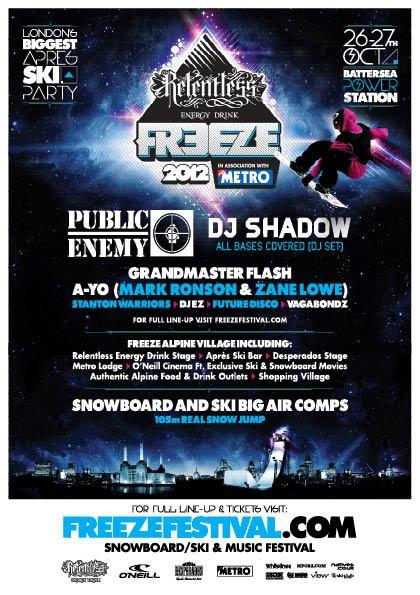 London Freeze 2012 Flyer