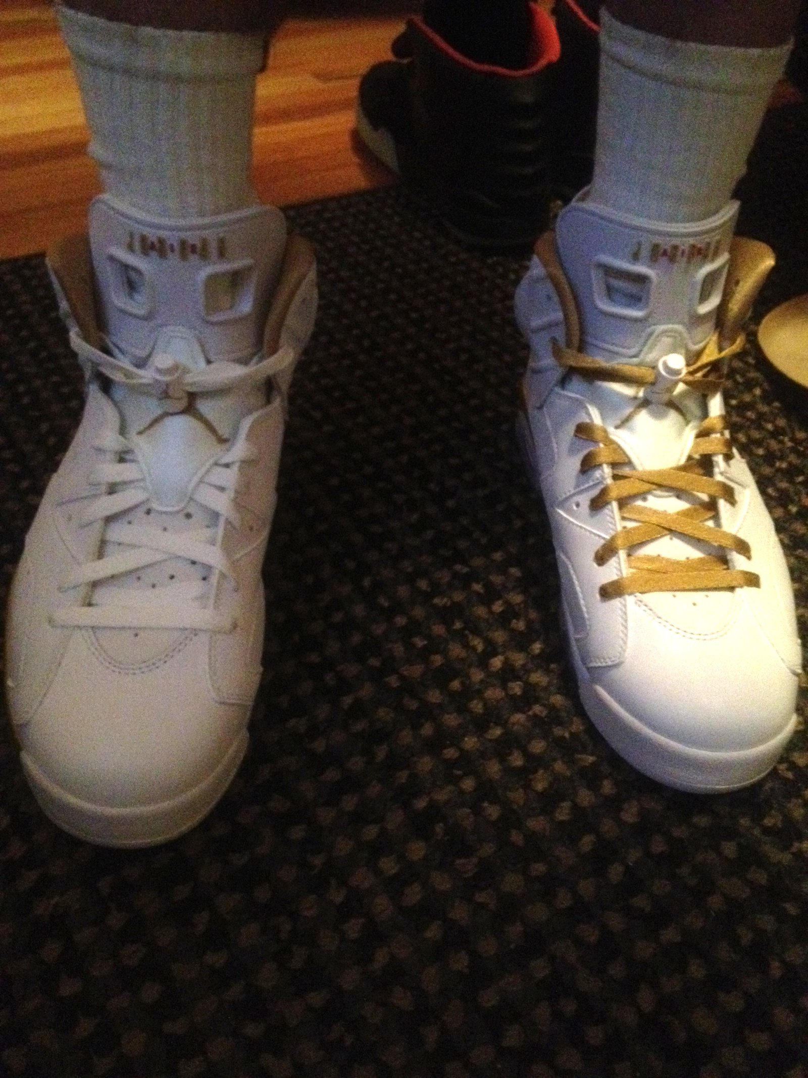 white or gold laces?