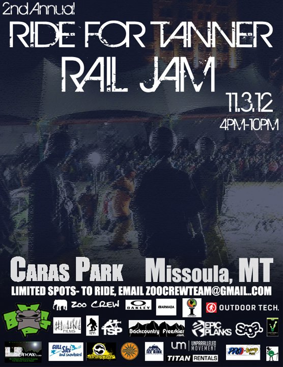 2nd Annual Ride For Tanner Rail Jam
