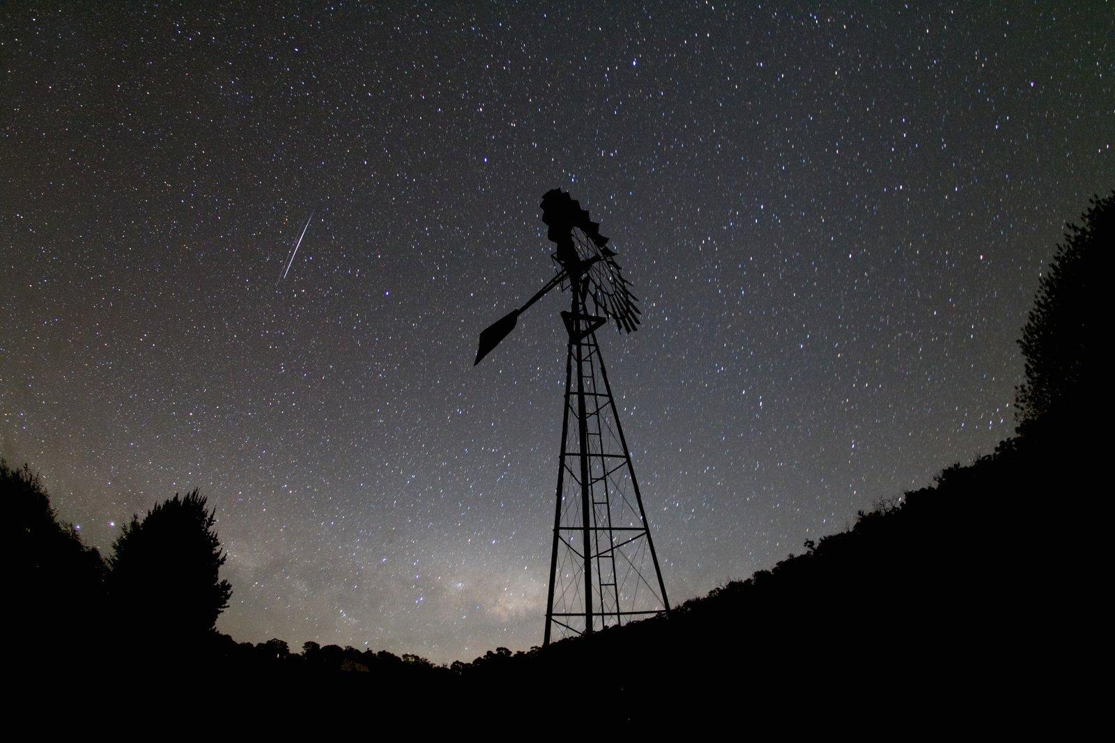 night time windmill