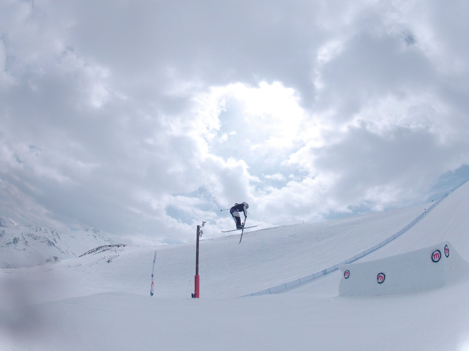 Another Telemark nose grab