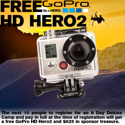 Free GoPro HD Hero2 for the next ten campers