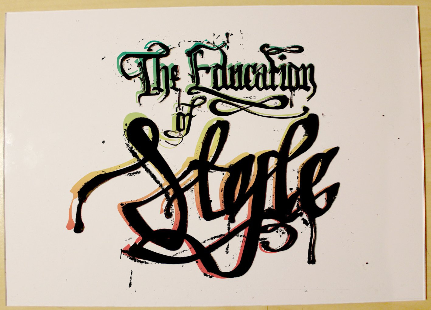 education of style graffiti contest entry