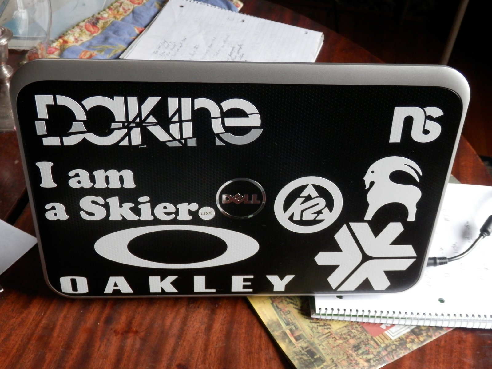 laptop sticker job