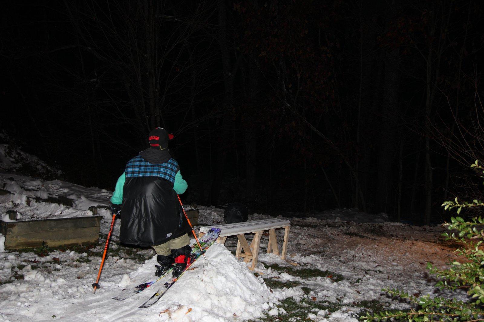 Halloween skiing