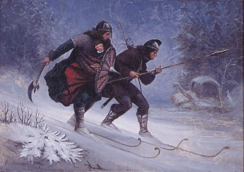 The beginnings of Skiing