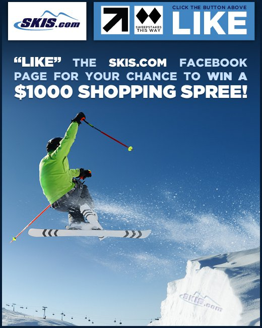 Skis.com Facebook Sweepstakes