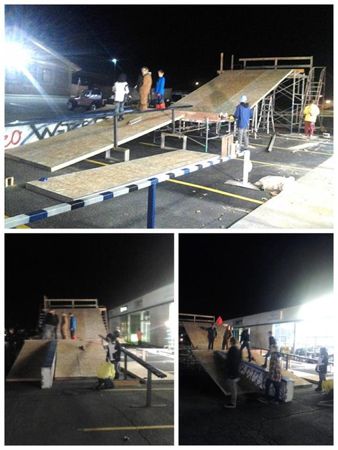 Rail Jam Construction