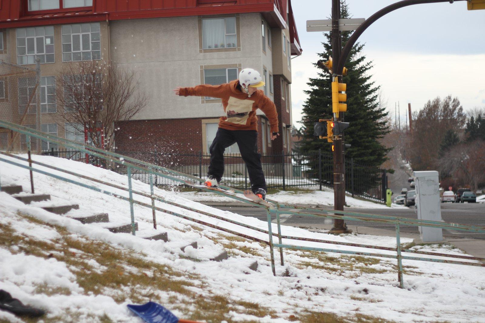 Calgary down flat rail