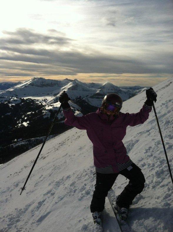 Skiing lone peak