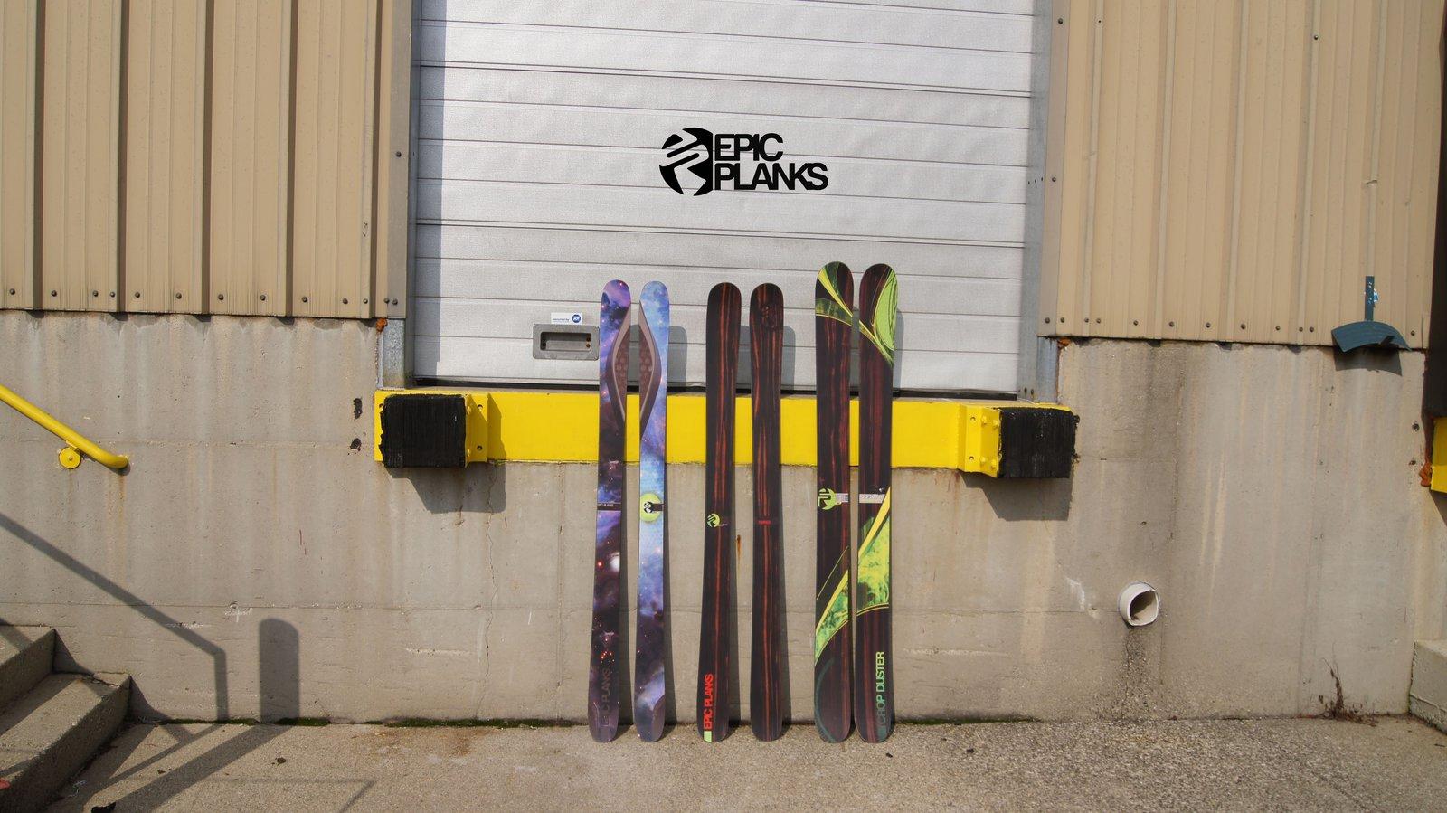 2013 Epic Planks Ski Lineup - Topsheets