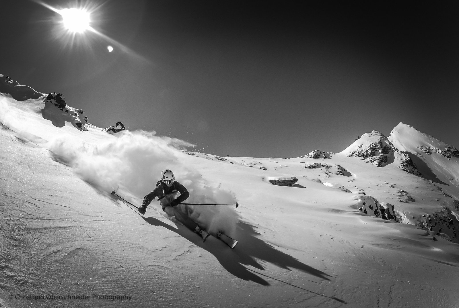 B&W Powder Skiing in April 2012