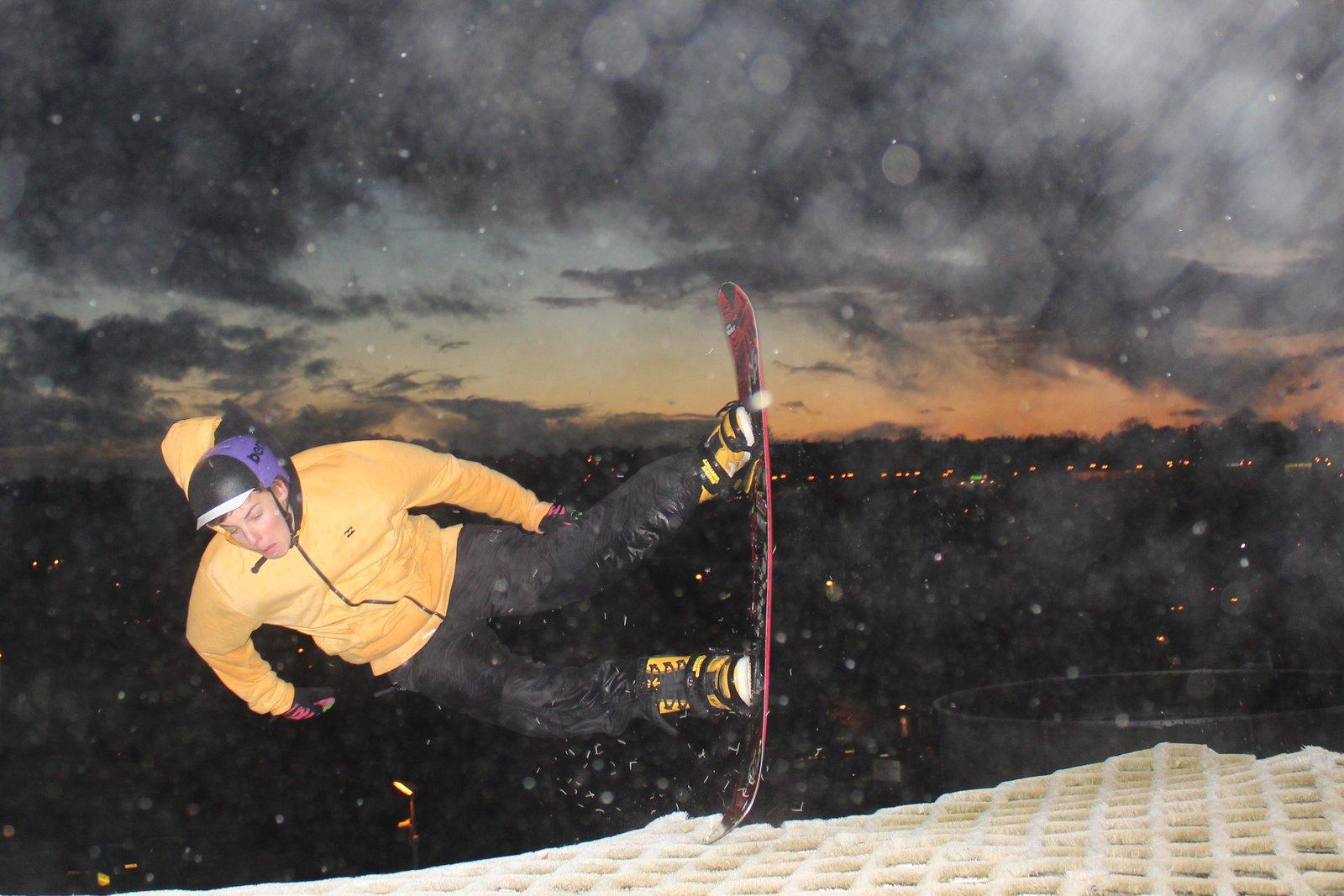 Gnarly snowboard crash