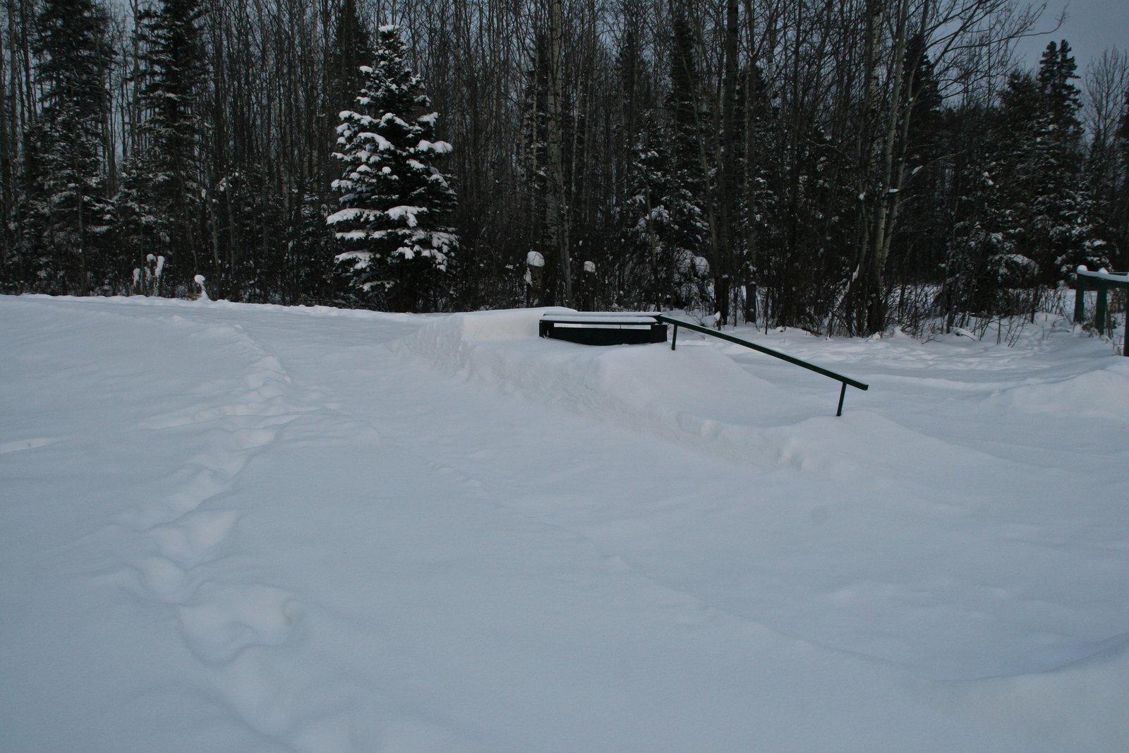 11' flat down rail