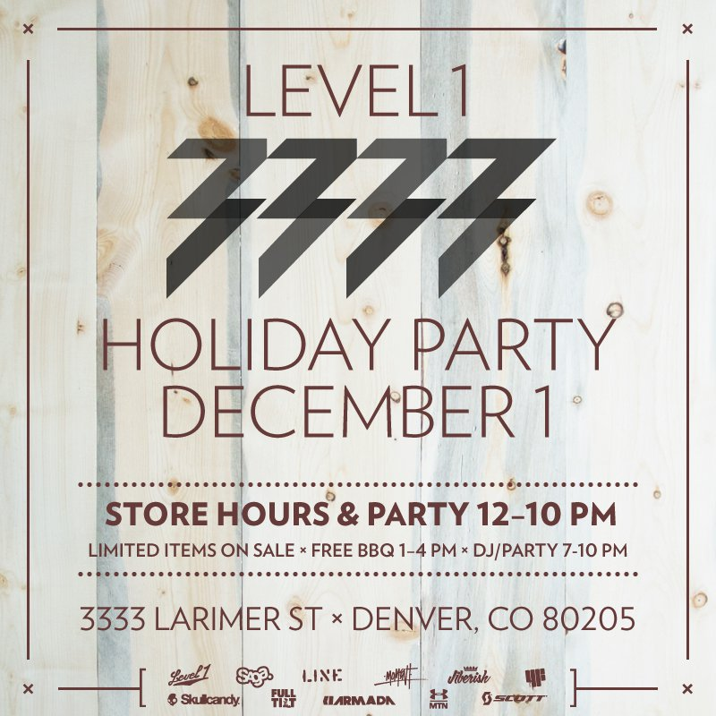 Level 1 3333 Holiday Party