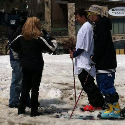 Me and Hack Junter getting interviewed at 7springs in April.