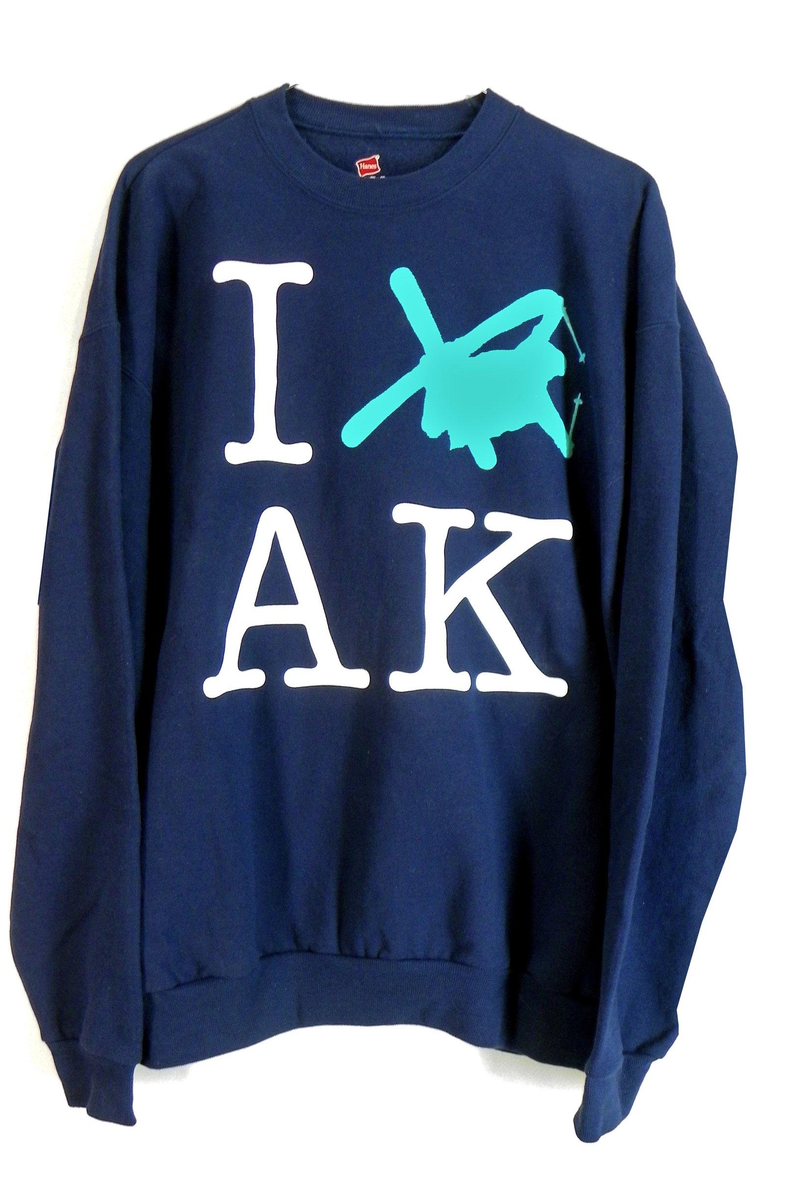I SKI AK Crewneck