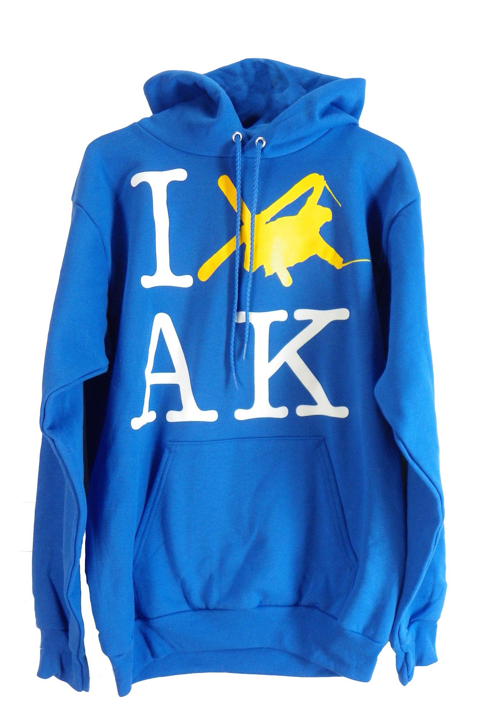 I SKI AK Blue Hoodie