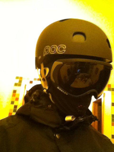 helmet/goggle setup