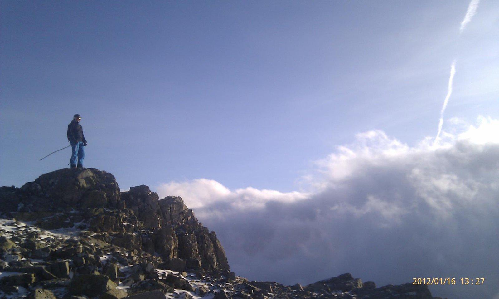 at the top of glencoe ski centre