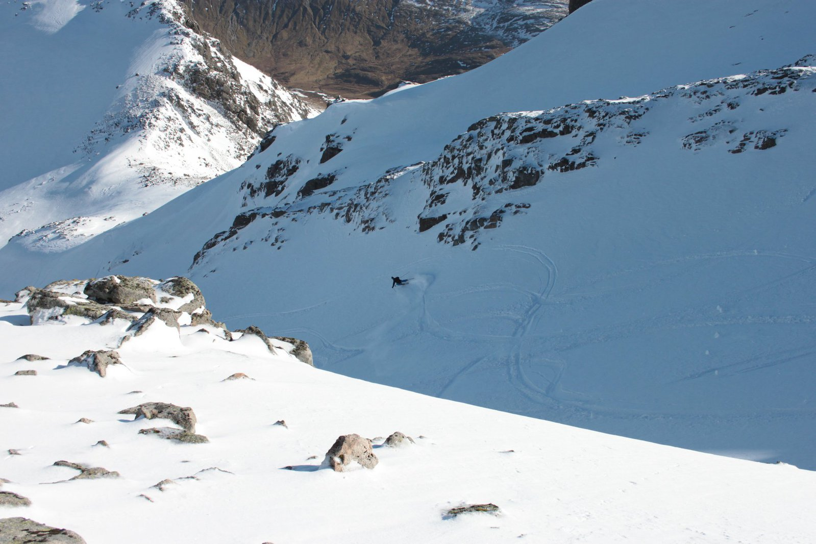 skiing spikes at nevis range