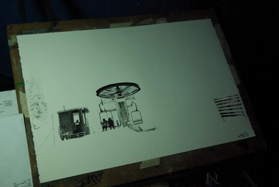 Chairlift Drawing